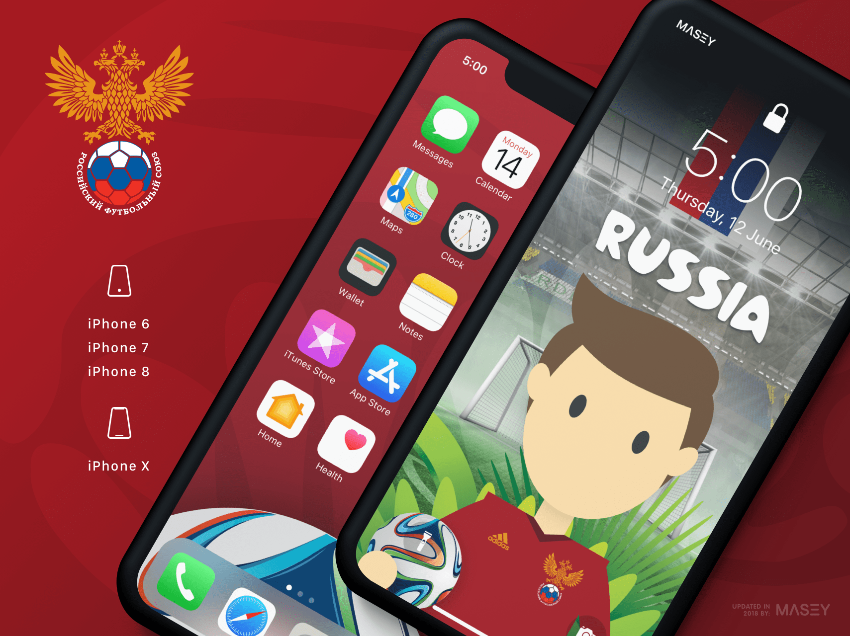 Team Russia iPhone Wallpaper