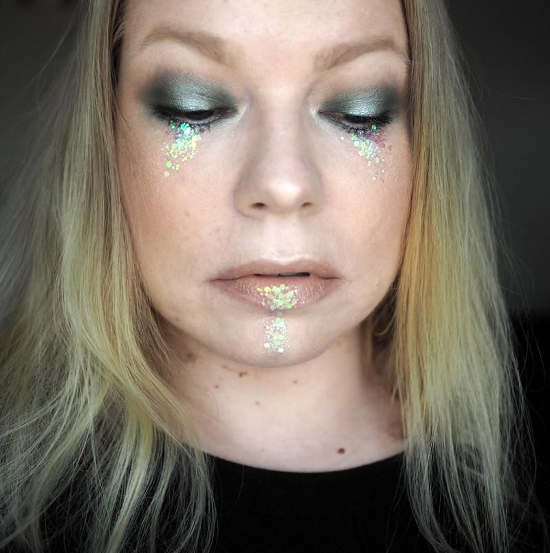 glitter meikki makeup nyx glitternisti