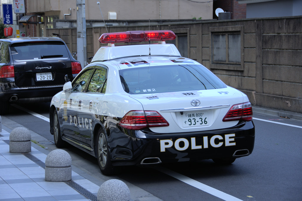 Japanese Police Car This Toyota Crown Is From The Tokyo Me Flickr