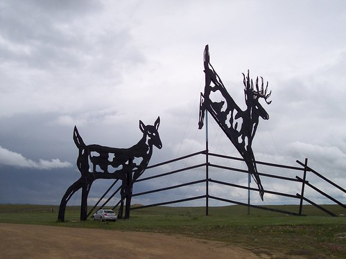 One of the sculptures along the Enchanted Highway. Image by drewweber, via Flickr.