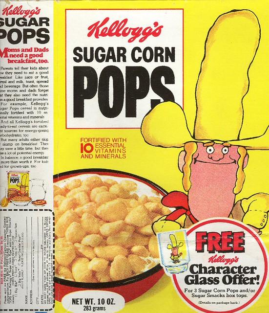 Big Yella On Sugar Corn Pops Cereal Box