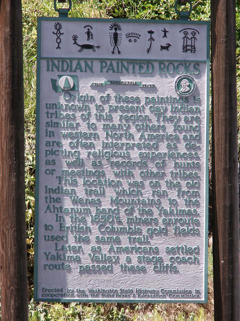 Indian painted rocks outside yakima wa flickr photo for Landscaping rocks yakima