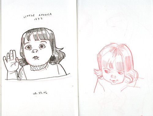 sketches of little andrea | by wardomatic