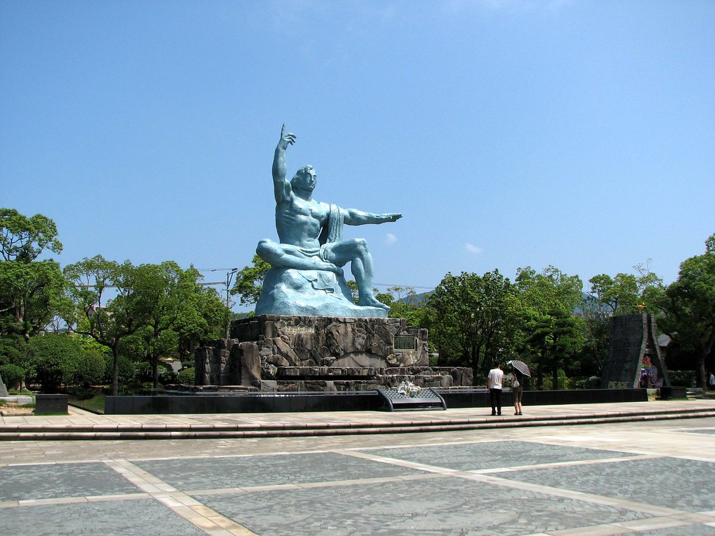 Nagasaki Peace Park monument  The main monument in the Naga…  Flickr