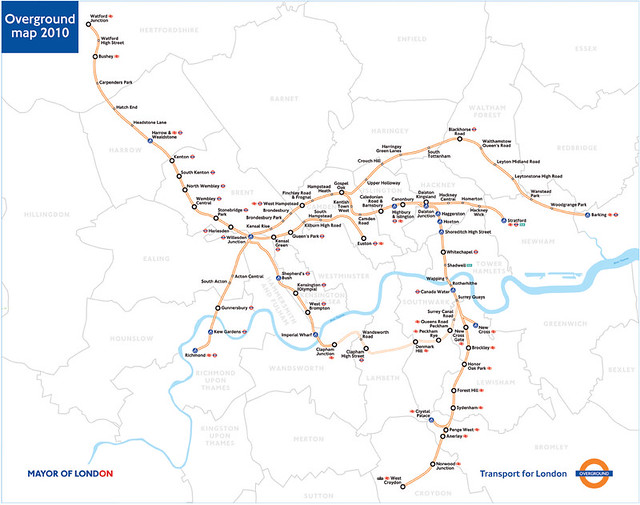 Map Outer London.London Overground Map A New Outer London Rail Line Is To B Flickr