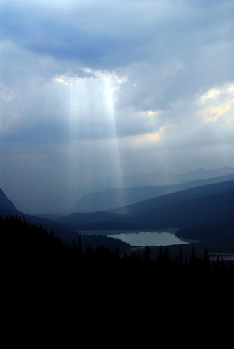 God beams over Emerald Lake, Yoho NP, BC, Canada | by .Anton