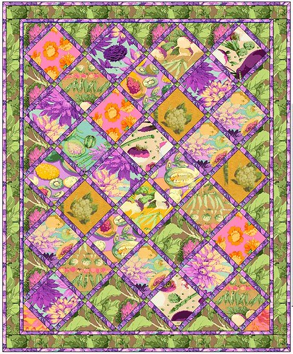 EQ Quilt with Marth Negley Fabrics | by 'Playingwithbrushes'