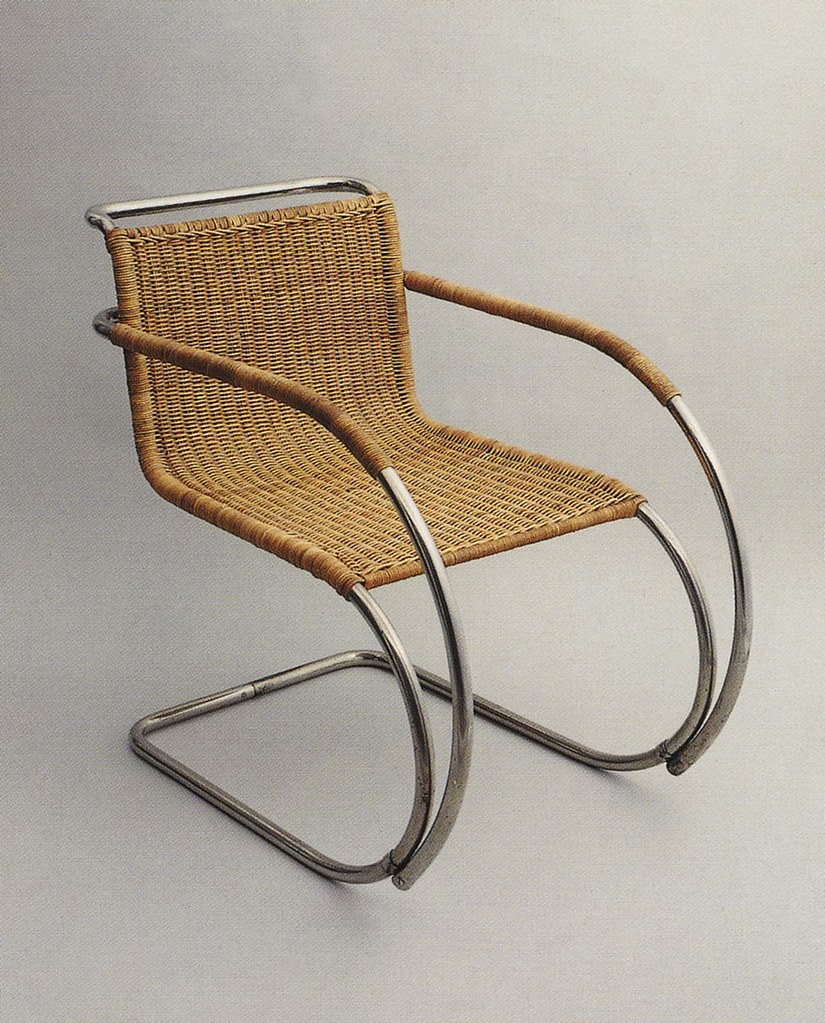 bauhaus chair designed by mies van der rohe 1927 he took flickr. Black Bedroom Furniture Sets. Home Design Ideas