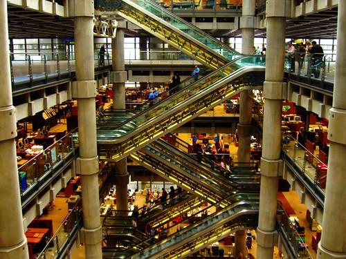 Escalators Above The Atrium In Lloyd S Building London