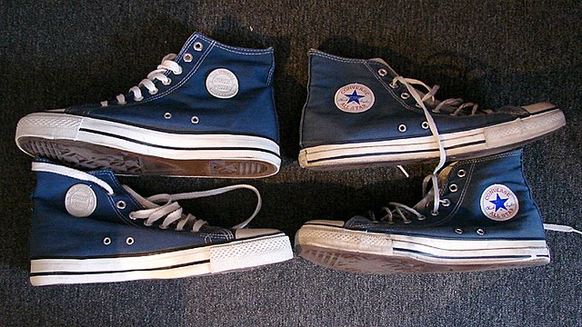 my fake & genuine blue converse all star | Ones on the ...