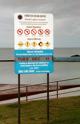 Sign At Forster Ocean Baths 04 Nsw Australia Safety And W Flickr