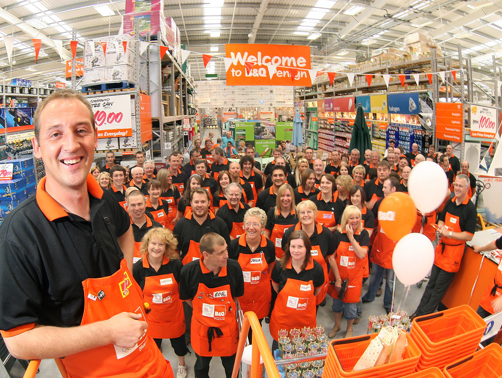 B q store manager lee billington and staff launch of for B b it