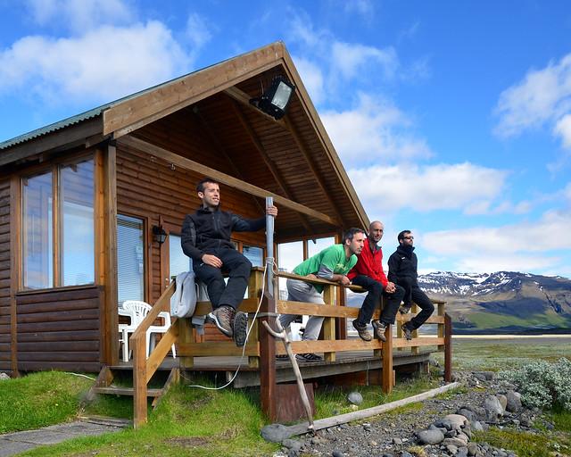 En una cabaña durante nuestro recorrido por Islandia
