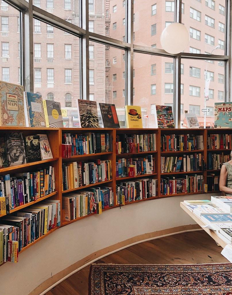 Idlewild Bookstore shelves