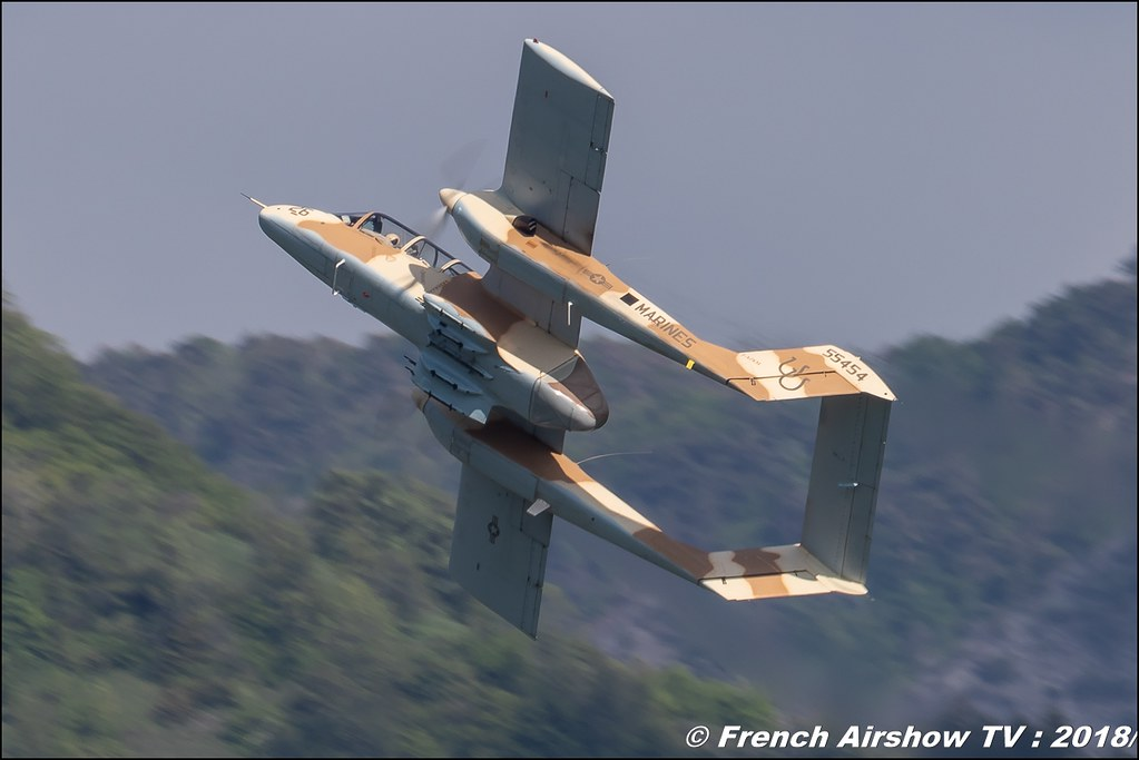 OV-10 Bronco Musée Européen de l'Aviation de Chasse de Montélimar, Alain Bes , F-AZKM , Meeting Aérien Gap-Tallard 12 mai 2018 - Alpes-Envol , Association AGATHA Canon EOS , Sigma France , contemporary lens , Meeting Aerien 2018