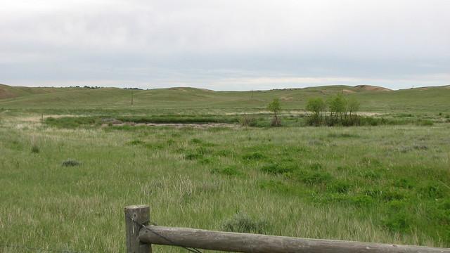 Reclaimed lands after surface mining on the Thunder Basin National Grasslands