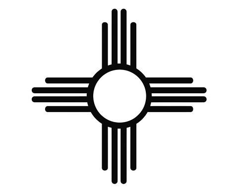 New Mexico Zia Sun Symbol Native American Blk Largeorig Flickr