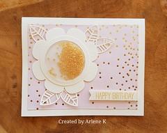Flower Shaker Card by Arlene Kruse