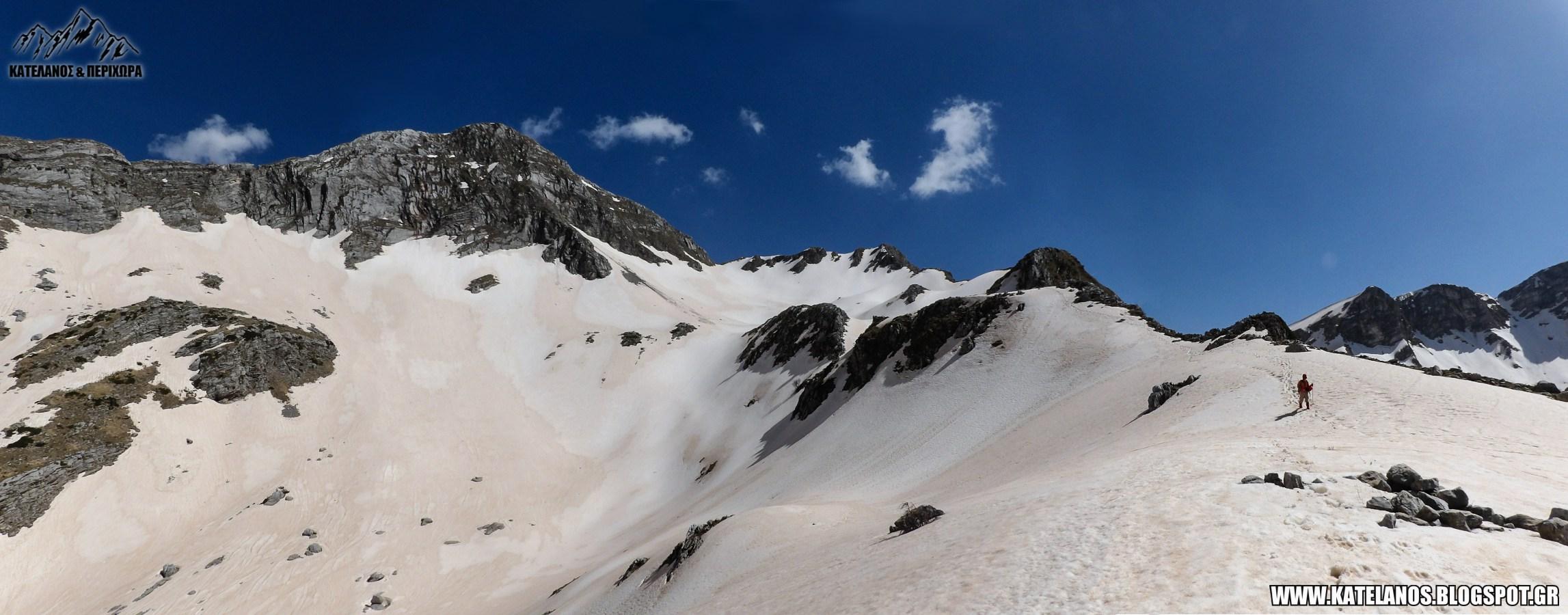 ορεινα τρικαλων βουνα ορος χατζη χιονια