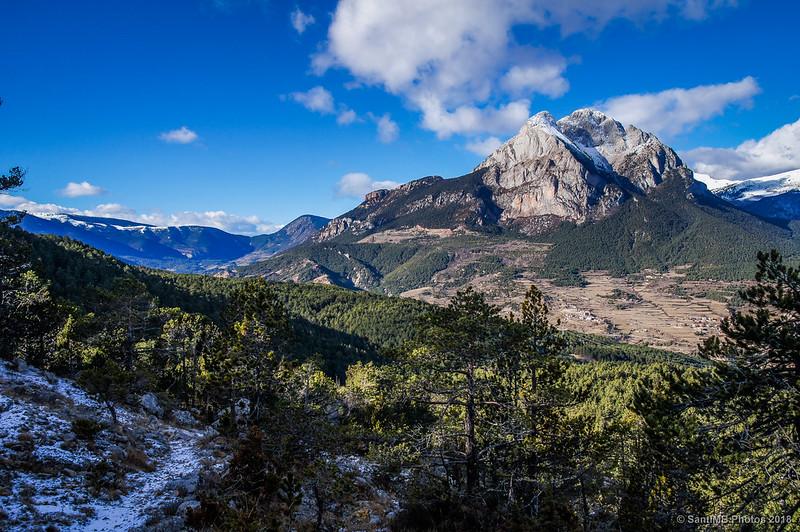 El Pedraforca desde el sendero de Els Graus