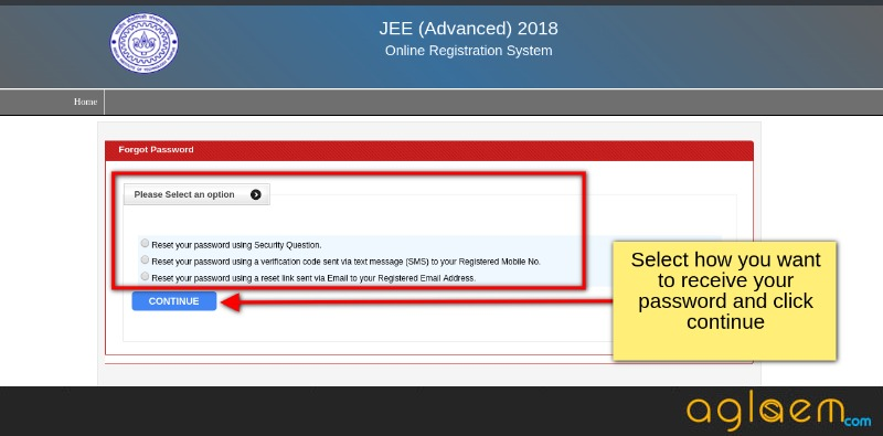 JEE Advanced 2018 Registration