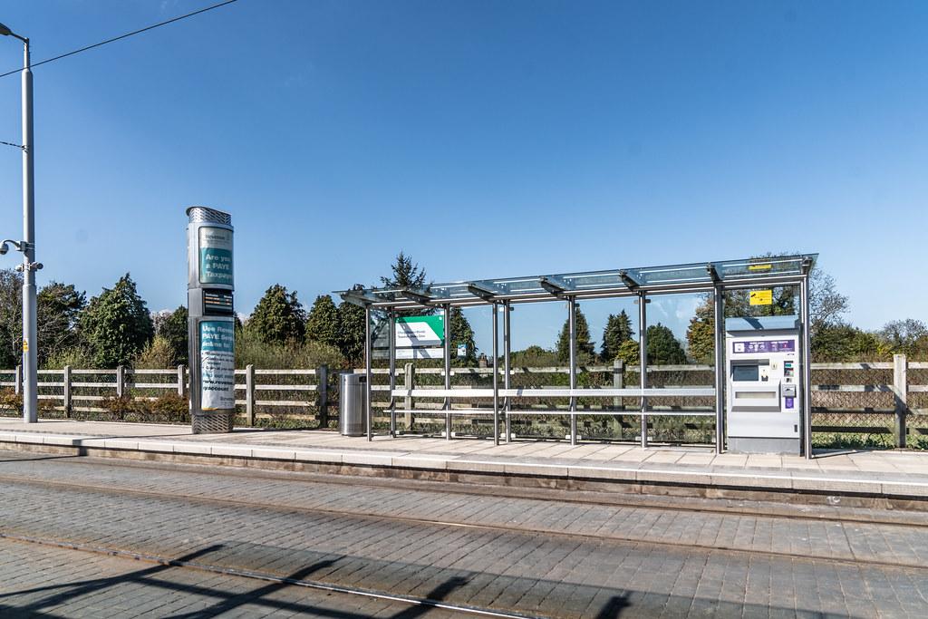 LUAS TRAM STOP AT LEHAUNSTOWN [GREEN LINE SERVICE] 002