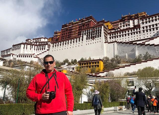 Sele en el Palacio de Potala (Lhasa, Tíbet)