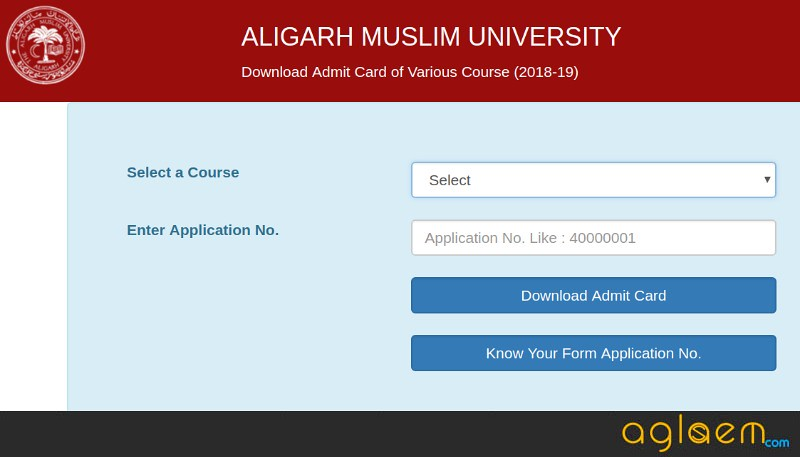 AMU MBA 2019 Admit Card