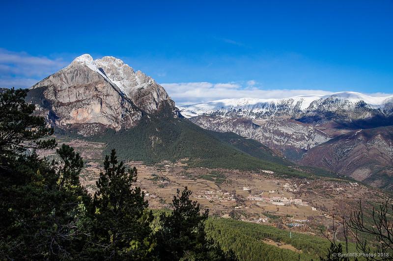 El Pedraforca desde el mirador del Bosc de Palomera