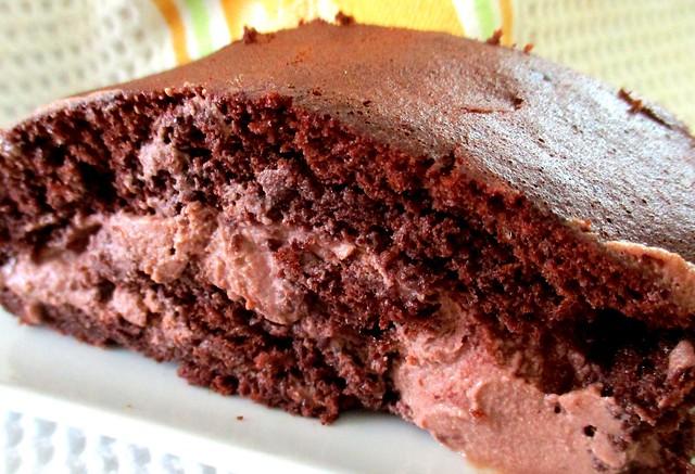 Melissa's chocolate whipped cream & raspberryroulade