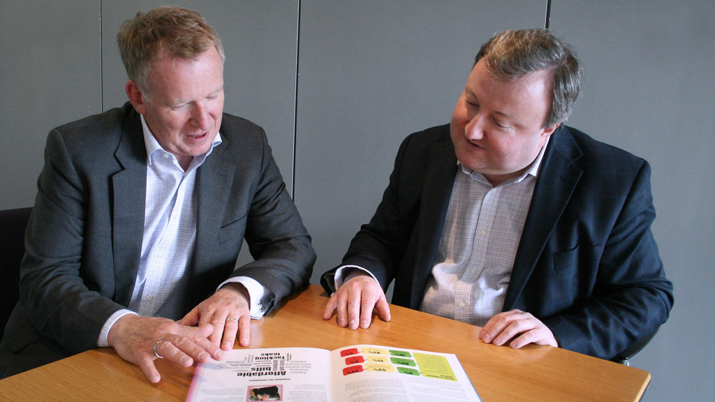 David Elliott, director of environment and assets at Wessex Water (left) with Dr Tom Arnot right.