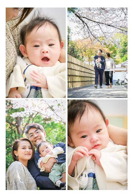 塩竈(しおがま)神社でお宮参り・100日祝い写真の出張撮影 名古屋市天白区 女性プロカメラマンによるロケーションフォト 自然でおしゃれ