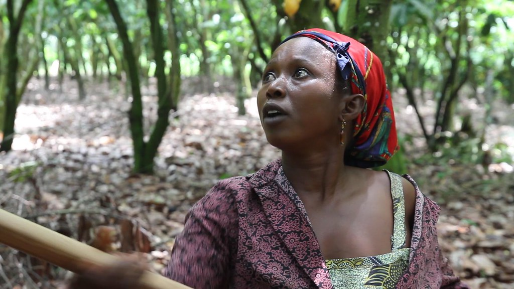 Female cocoa farmer in Ghana
