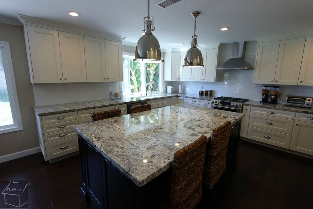 ... Contemporary Style, Industrial, Transitional Kitchen Remodel With Brand  New White Custom Cabinets In City