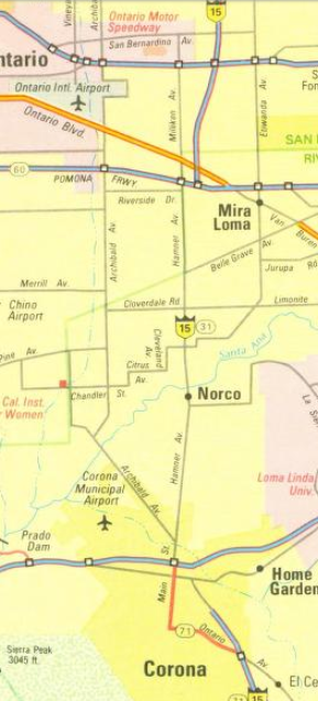 corona map ca