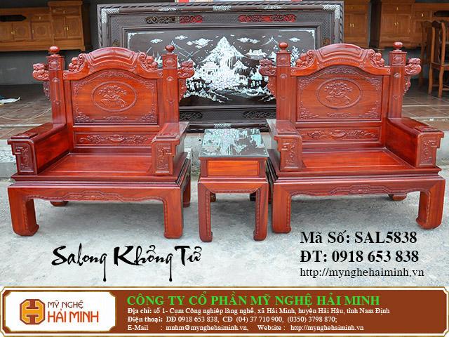 SAL5838g Salong Khong Minh do go my nghe hai minh