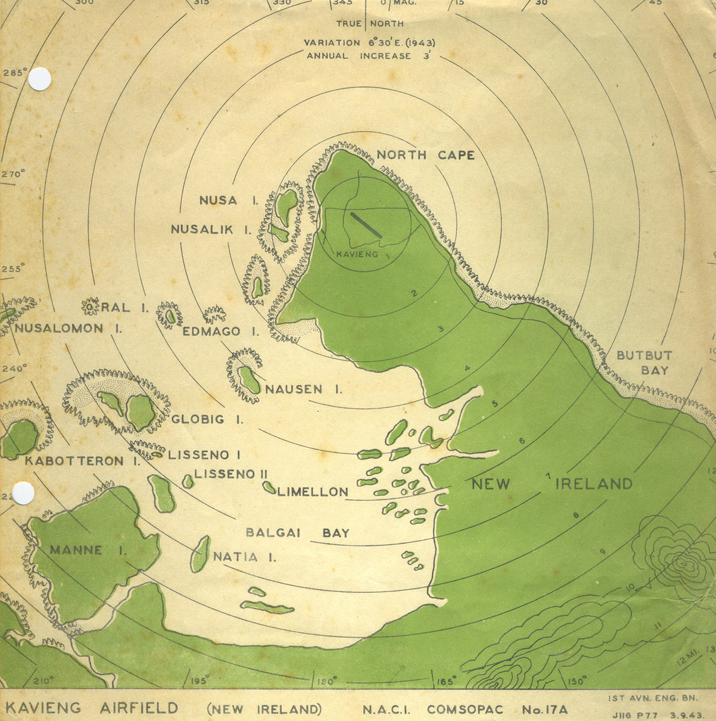 Map Of New Ireland Ca 1940 From The Roy S Geiger Collec Flickr