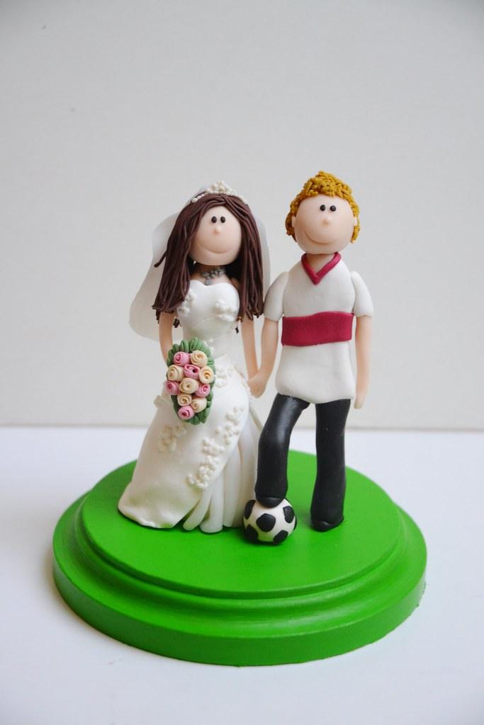 Dekorative Figur Fur Die Hochzeitstorte Brautpaar Fussbal Flickr
