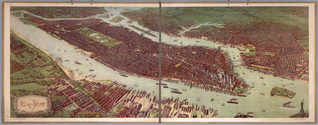 Bird's Eye View of Manhattan (1908)