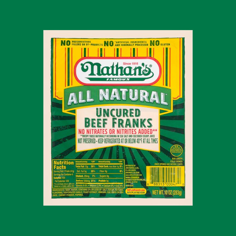 Nathan's Famous: All Natural Uncured Beef Franks