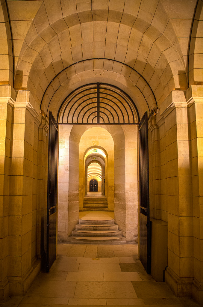 fine art colour view of the wonderful crypt of the magnificent Panthéon, a gem of the Latin Quarter, Paris, France