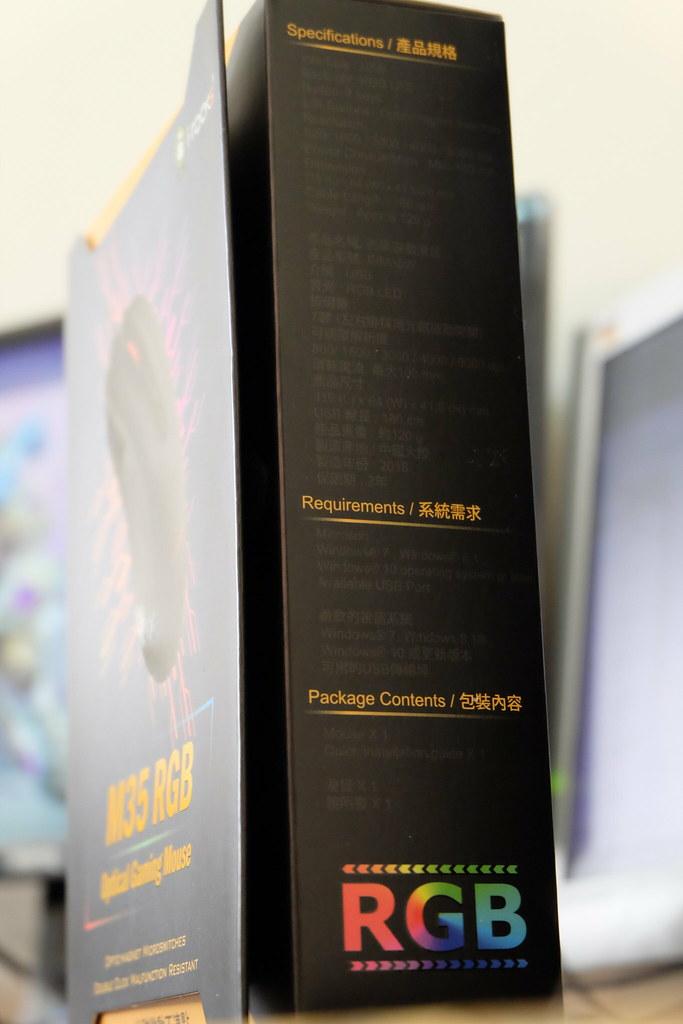 超高CP耐用不連點 - 光磁微動滑鼠 iRocks M35 RGB Gaming Mouse