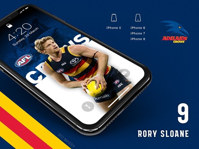 Rory Sloane (Adelaide Crows) iPhone Wallpaper