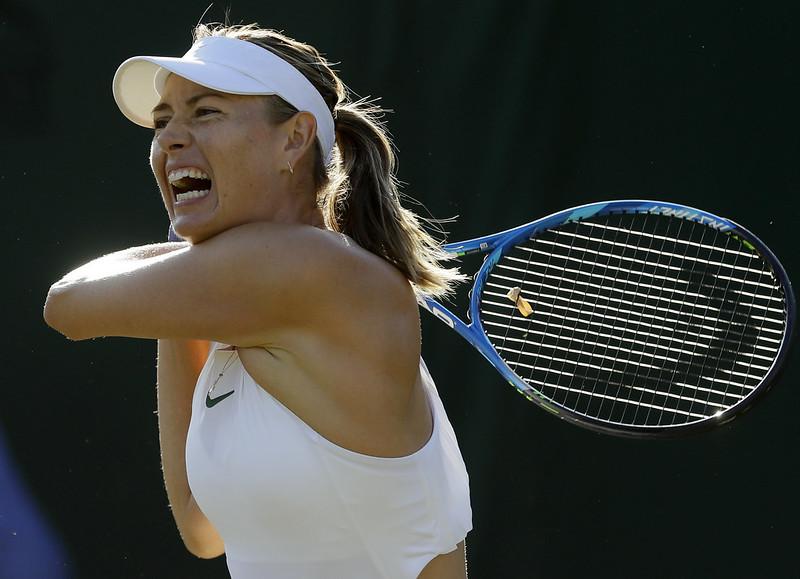 Maria Sharapova溫網首輪就打包回家。(達志影像)