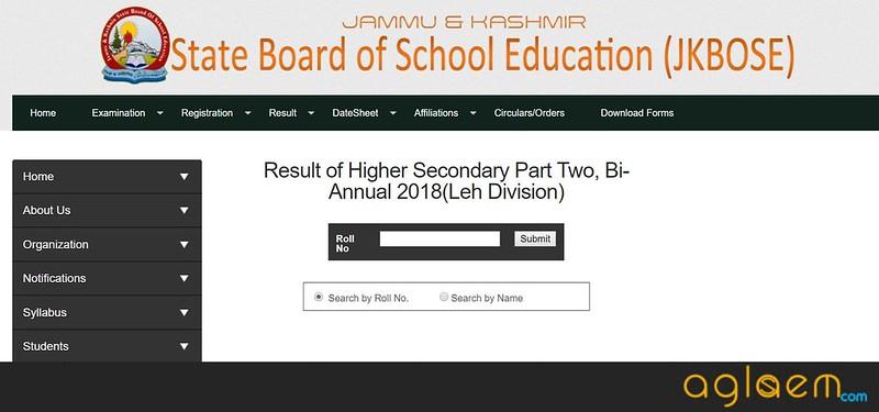 JK BOSE 12th Bi-Annual Result 2018 for Leh Division