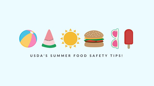 Summer object and food icons graphic