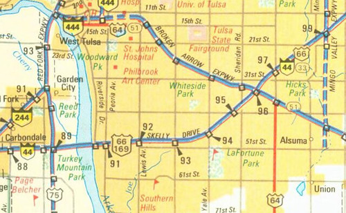 Tulsa And Oklahoma City Map Excerpts - Tulsa-on-us-map