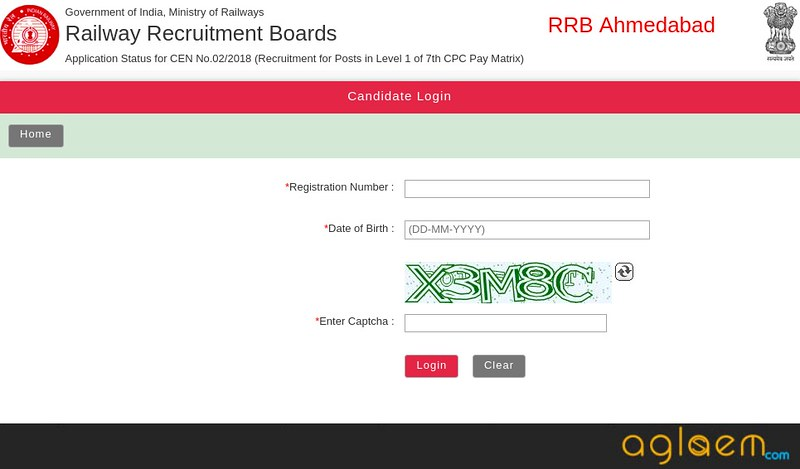 RRB Group D Application Status 2018 Railway Board Wise