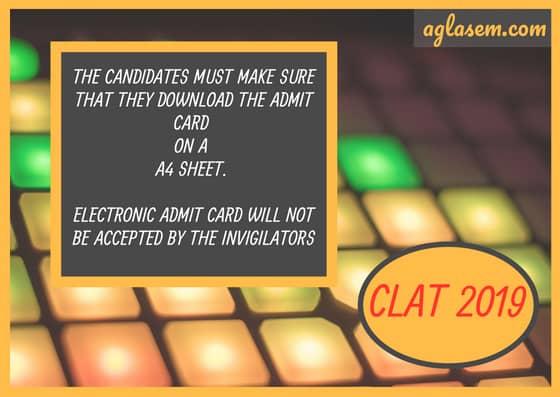 CLAT 2019 Admit Card - Get Here  %Post Title | AglaSem