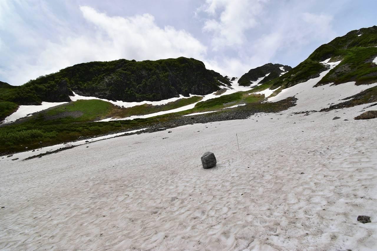 天狗原まで雪渓ルート